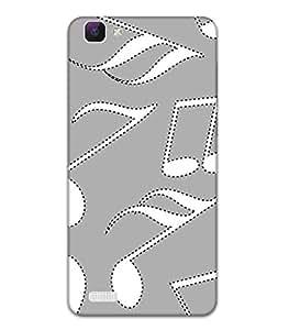Fonokart Premium Vivo V1 3D Printed Matte Finish Slim Unique High Quality Case Slim Lightweight Back Cover Hard Case