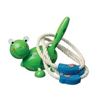 Jeu de lancer d'anneaux Animaux en bois Jeu d'extérieur Enfant 4 ans +.* - Grenouille