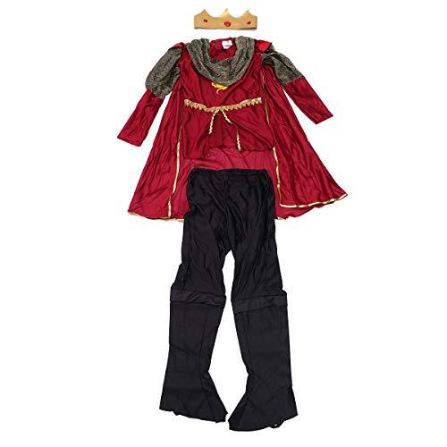 loween-Cosplay-Kostüm für Jungen, Prinz-Kleidung, für Kinder, Kostüm, Party-Kleidung, Größe M ()
