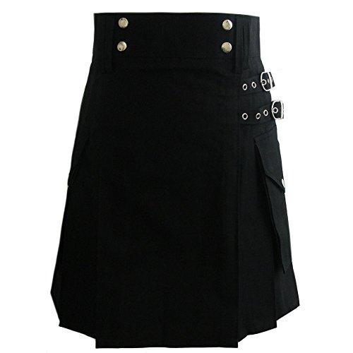 Kilt funzionale da donna in cotone - Nero Nero