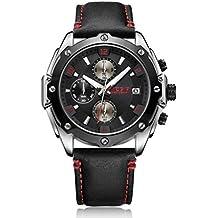 Hermosos Relojes megir 2074 Hombres Reloj de Cuarzo automático Fecha pequeño Tres Pin Moda Hombre y