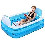 Badewannen ohne Belüftung Familien-Vergnügungsbadewanne aufblasbare Faltbare Erwachsene Wanne...