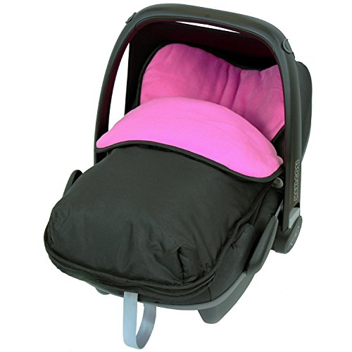 Universal Car Seat Footmuff To Fit Maxi Cosi – Raspberry (Black / Pink) 41eJMlyHguL