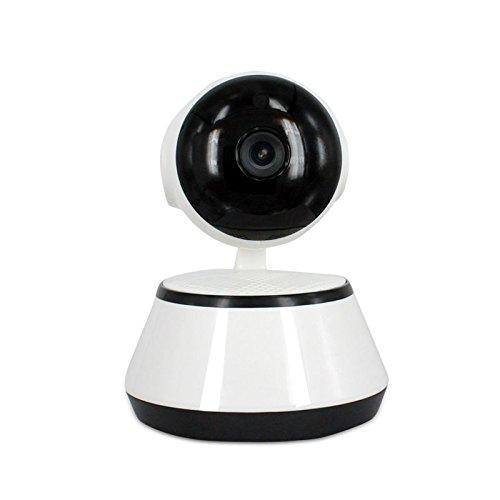 Cámara Video Vigilancia y Vigila Bebés. IP WiFi P2P Camara IR Nocturna HD 1,0 Megapixels con detección de movimientos. MarvTek con Rotación Horizontal de 355º y Vertical de 90º. (HD720P)