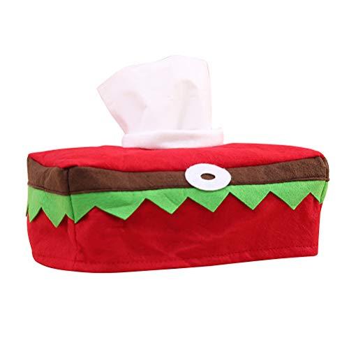 Vosarea Weihnachten Tissue Box Stoff Elf Kostüm Design Taschentuchspender Kosmetiktücher Box für Haus Büro Badezimmer (Elf Kostüm Designs)