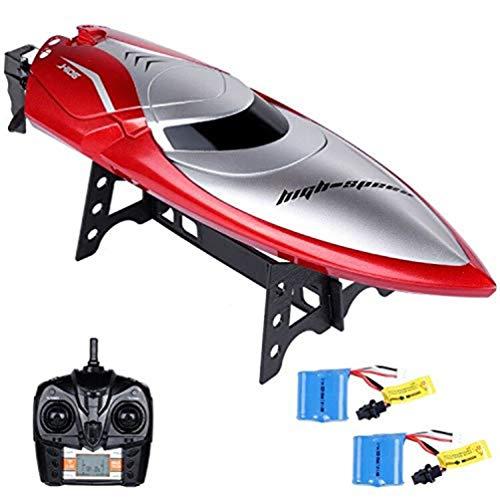 LLLLDDLLLDM Remote Control Boat,Ferngesteuertes Boot für Pool & Outdoor, RC Rennboot mit Fernbedienung, 2.4 Ghz High Speed/180 ° Flip/wasserdicht Boote Racing Boot für Erwachsene & Kinder