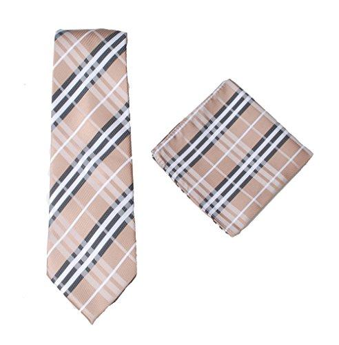 Orange Silk Bow Tie (Formelles Herren-Set aus Premium-Krawatte und Einstecktuch, 100% Seide, gestreift, Paisley, Hochzeit, Set aus Einsteck-/Taschentuch und Krawatte, Grün)