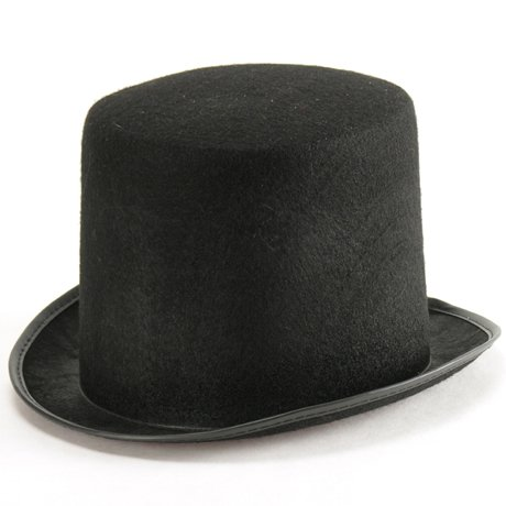 Tuba nera in feltro totò zio paperone cappello cilindro