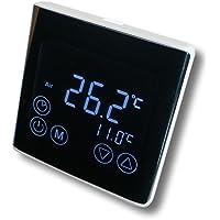 SM-PC®, Raumthermostat Thermostat programmierbar LED Touchscreen Digital schwarz #a61
