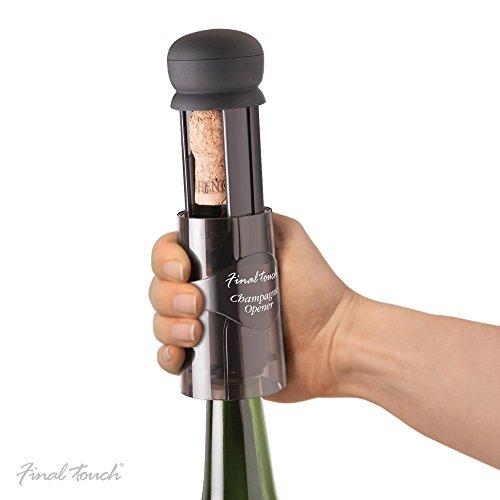 Final Touch Champagne Sparkling Wine Bottle Cork Opener Sekt-Flaschen-Korken Flaschenöffner Plus Free passend zu Essen Führer WO400
