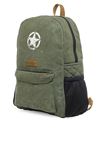 Best canvas backpack in India 2020 The House Of Tara Rugged Unisex Laptop Backpack (Moss Inexperienced) HTBP 164 Image 9