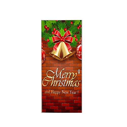 Schneeflocke Glasaufkleber Wasserdichte gedruckte Innenweihnachtstür-Abdeckungs-Wand-Aufkleber-Dekoration Aufkleber Für Weihnachtsdekoration