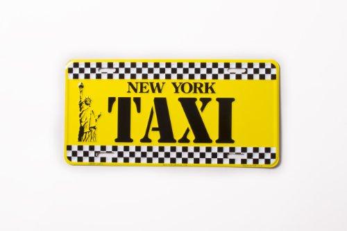 Teller New York, Taxi- Nummernschild NY Yellow Cab Taxi NYC Metall Statue of Liberty Platte NYC Souvenir NY Lizenz Teller Decor Dekoration