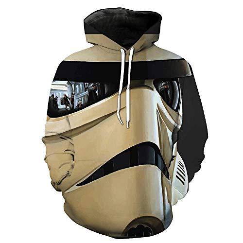 Rbop Unisex 3D Druck Hoodie Kapuzenpullover Langarm Sweatshirt Kapuzenjacke Mit Taschendreidimensionale Maske XL