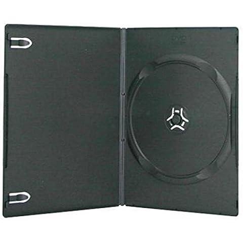 MasterStor ottima qualità, colore: trasparente/nero-Custodia singola per DVD, 7 mm