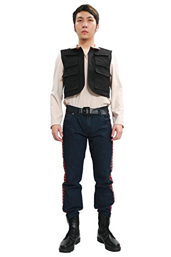 Han Solo Kostüm Coole Fancy Erwachsenes Cosplay Kompletter Anzug Top und Hose Halloween Karneval Cosplay (Solo Han Kostüm Hose)