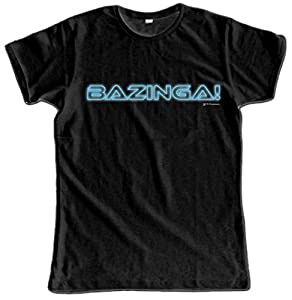 Video Delta - The Big Bang Theory: Bazinga camiseta, para hombre, de talla L
