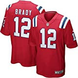 Nike NFL New England Patriots Tom Brady #12 Game Team Jersey University Red (XL)