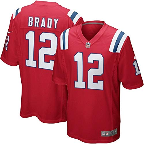 Nike NFL New England Patriots Tom Brady #12 Game Team Jersey University Red (XL) (Trikot Brady Tom)