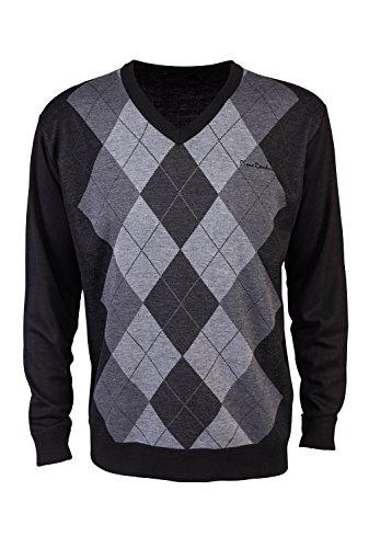 pierre-cardin-mens-new-season-v-neck-argyle-knitted-jumper-large-black-charcoal