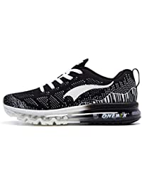 new products 91683 761dc ONEMIX Chaussures de Course pour Homme - 3D Knit Coussin d air Athletic  Sports Running
