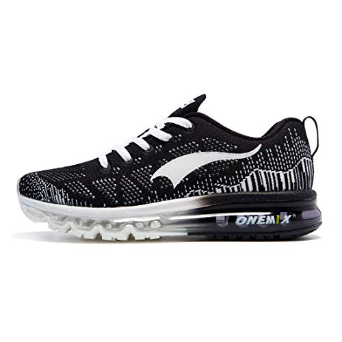onemix Trail Laufschuhe Männer - 3D Knit Air Max Flyknit Leichtgewicht für Walking Gym Jogging Fitness Athletisch Outdoor Sports Trainer Sneaker - HB 45