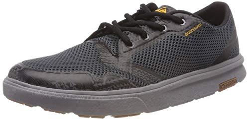 Quiksilver Herren Amphibian Plus Slip On Sneaker, Grau Grey/Orange-Combo Xssn, 41 EU
