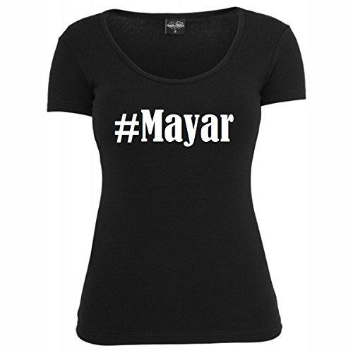T-Shirt #Mayar Hashtag Raute für Damen Herren und Kinder ... in den Farben Schwarz und Weiss Schwarz