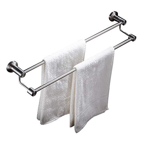 Liansheng Moderne einfache Handtuchhalter Edelstahl Doppel Handtuchhalter Bad Balkon Küche Wandbehang Handtuchhalter (Size : 50cm) - Reich Schäumendes Bad