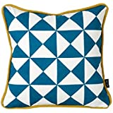 Ferm Living Kissenhülle 30 x 30 cm Little Geometry Cushion - Blue Blau incl. Füllung