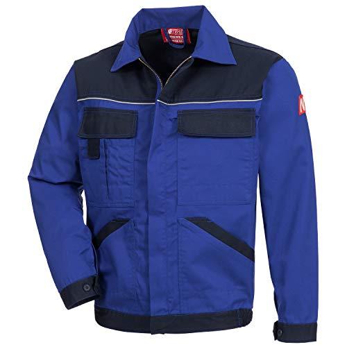 Nitras Motion TEX Light - Leichte Arbeitsjacke für Damen & Herren - Schutzjacke mit vielen Taschen - Arbeitsschutzjacke mit Reflexbiesen auf Brust und Rücken - Dunkelblau Größe 56 -