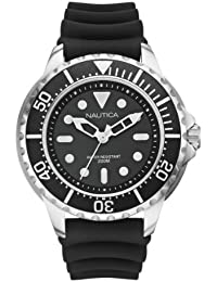Nautica Men's WatchA18630G NMX 650 with Black Dial and Black Resin Strap