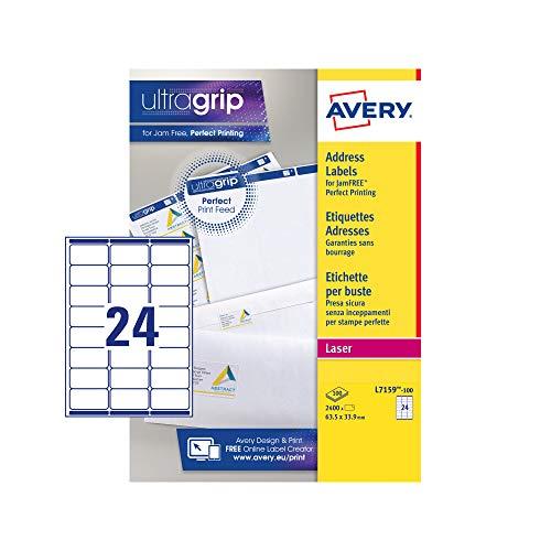 Avery Étiquettes adresse Facile à décoller (Import Royaume Uni)