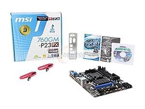 MSI 760GM-P23 Carte mère AMD Socket AM3+ Format Micro ATX Port USB PCI-Express ( 30 x 30 x 6 cm)