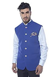 Mohanlal Sons Mens Nehru Jacket (W-1701-R.Blue_38)