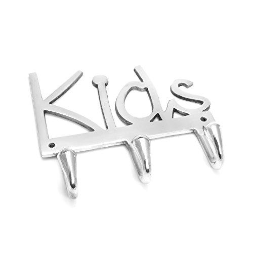 Wandhaken Design Kids Metall Aluminium Silber Garderobe Kind Kinderzimmer Kleiderhaken Jacke Brillibrum Flyer (Haken mit Gravur bis 15 Zeichen)