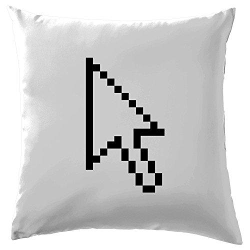 """Evolution des Menschen Mauszeiger (Pixel) Kissen–41x 41cm (40,6cm)–10Farben, 100 % Baumwolle, weiß, 41 x 41cm (16"""")"""