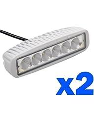 2 pcs 18W Luces led para carro Lampara luces Para trabajo Antiniebla de coche Trabajo