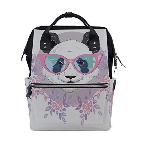 Brille Panda Big Black Große Kapazität Wickeltaschen Mumie Rucksack Multi Funktionen Windel Wickeltasche Tote Handtasche Für Kinder Babypflege Reise Täglich Frauen