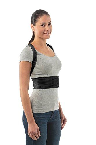 """Bester Geradehalter zur Haltungskorrektur - Perfekte Haltungsunterstützung und Rückenschmerzlinderung - Bandage zur Korrektur der Körperhaltung - Größe 2: 79-88 CM; 31-35\"""" - Schwarz"""