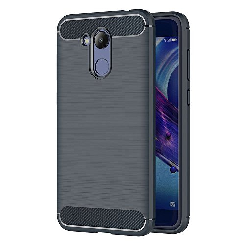 """Cover Huawei Honor 6C Pro (5.2"""") / Honor V9 Play Blu Scuro , MHHQ Custodia Huawei Honor 6C Pro (5.2"""") / Honor V9 Play TPU Silicone Case Custodia Shock-Absorption Bumper e Anti-Scratch Back per Huawei Honor 6C Pro (5.2"""") / Honor V9 Play"""