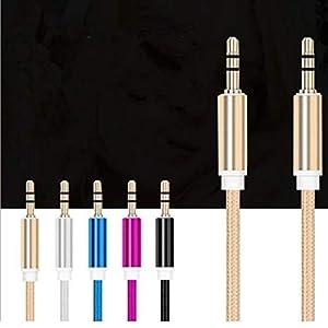Jessicadaphne Aux Copper Core Auto Auto Universal Audio Kabel 3,5 Mm Aluminiumlegierung Stecker auf Stecker Audio Kabel