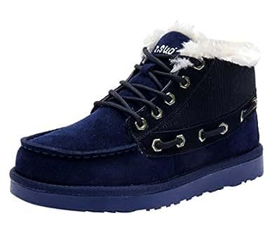 Z.SUO, Boots/bottines de neige homme nubuck doublure fourrée (41, Bleu)