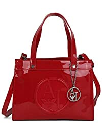 6c51b5059f8d Armani Jeans Shopping Bag Women s Red 30X23X12 cm