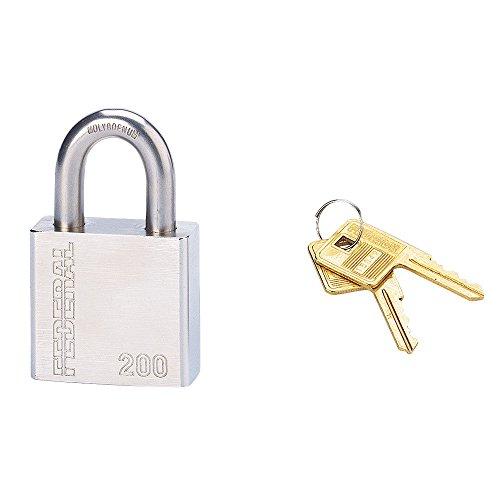 Serrurerie de Picardie 00896509 - Lucchetto SP 200 R, con arco in acciaio al nichel-cromo-molibdeno, 2 chiavi in ottone incluse, 50 mm