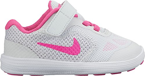 Nike Mädchen Revolution 3 (TDV) Sneaker, Multicolore (PR Pltnm/Pnk Blst-WLF Gry-Wht), 23 1/2 EU Nike-schuh-baby-mädchen