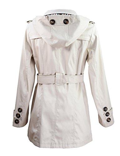 Miss Rouge: Trenchcoat, Regenjacke, schwarz, beige Beige