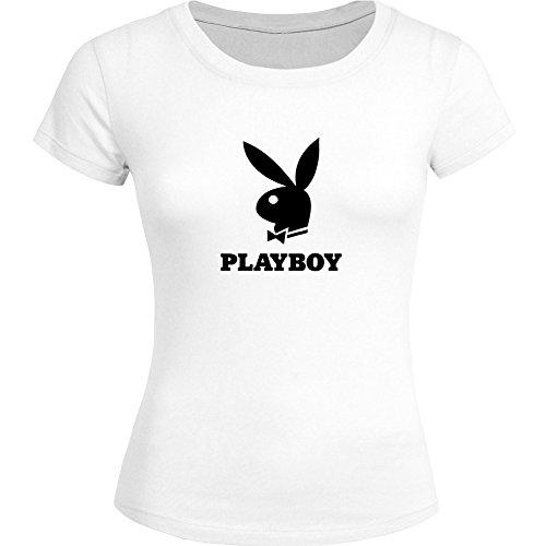 playboy-t-shirt-donna-white-medium