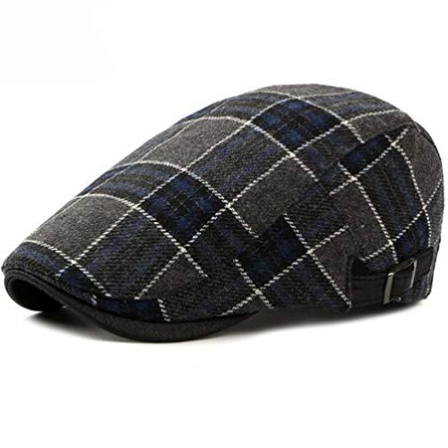 AROVON Kappen Herbst Winter für Männer Frauen Baskenmütze Cap Vintage Retro Plaid Ivy Newsboy Flat Cap Wolle Baskenmützen -