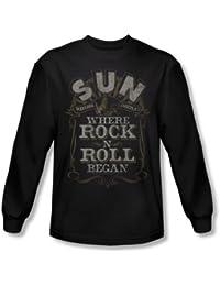 Sun - Hommes où la roche a commencé shirt manches longues In Black